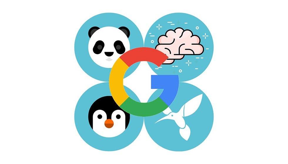 لیست الگوریتم های گوگل از جمله پاندا و پنگوئن