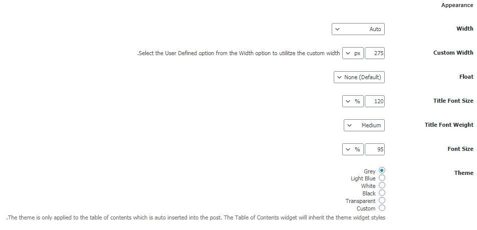 آموزش افزونه Easy Table of Contents مرحله سوم